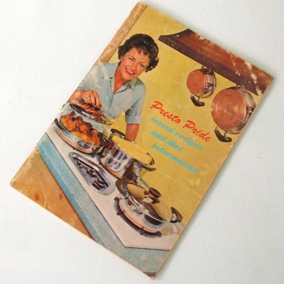 Presto Pride Cookware Cookbook/Instruction Booklet Waterless Pot/Pan Manual