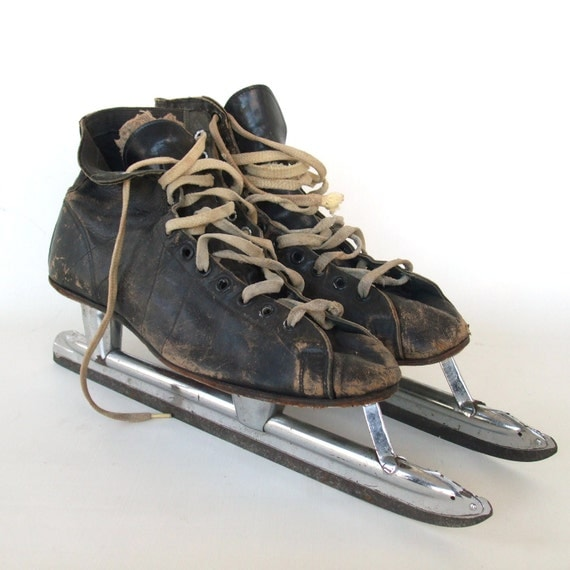 Vintage Ice Skates Speed Skating Nestor Johnson Hi-Speed Men 8 leather