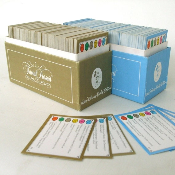 Family Party Game Disney Trivial Pursuit Cards Kids Adults