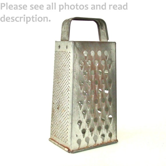 Vintage Cheese Grater 4 Sided Box Type