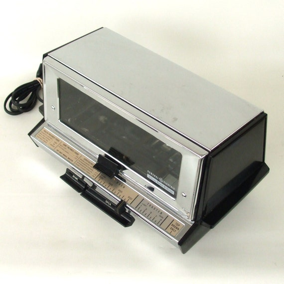 Countertop Oven Made In Usa : Vintage Toaster Oven Chrome GE General Electric Made in USA