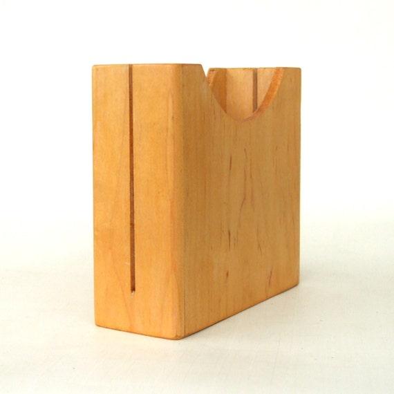 Wood bagel slicer wooden cutter holder by lauraslastditch on etsy
