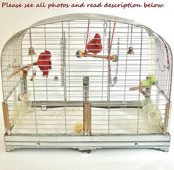 Vintage Wire Bird Cage by Hendryx