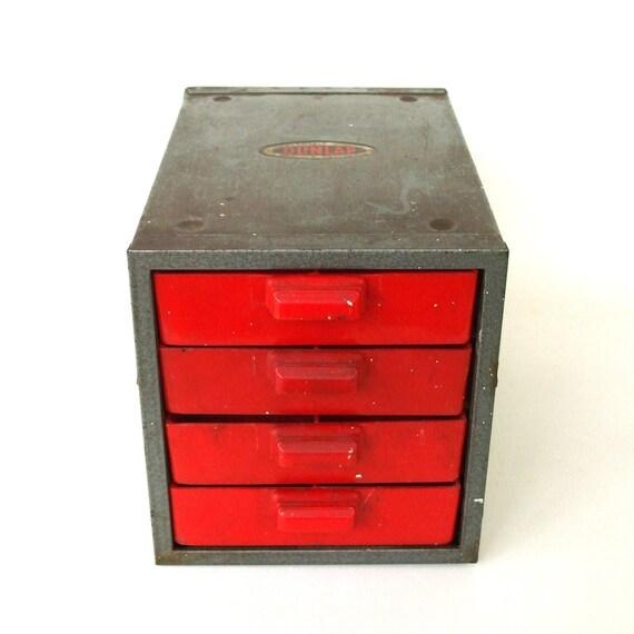 Vintage Garage Tool Organizer Workbench Drawers Machine Age