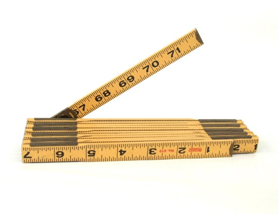 Wood Extension Folding Ruler Rigid 619 Made in USA