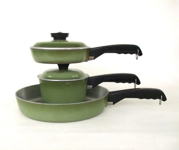 Vintage Club Aluminum Cookware Skillet Sauce Pans