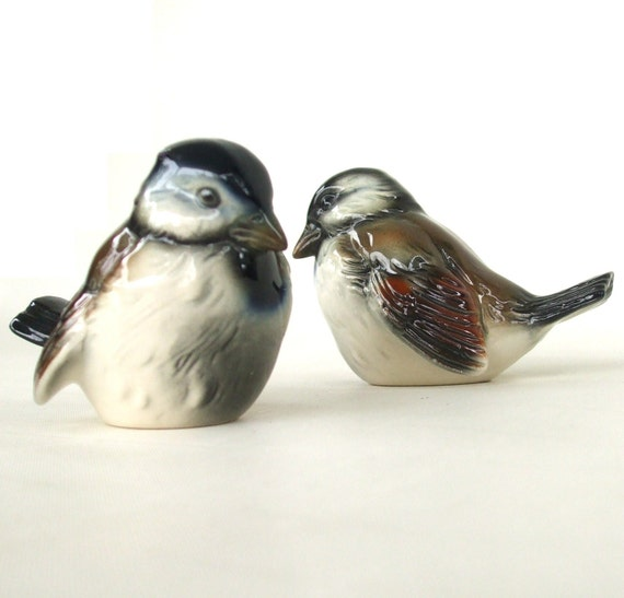 Goebel Sparrow Bird Figurines West Germany C74 Ceramic