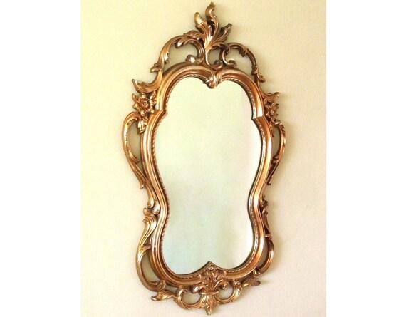 Vintage Syroco Wall Mirror Gold Hollywood Regency