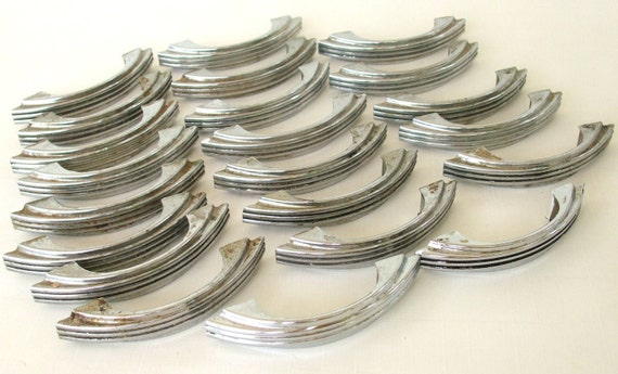 Vintage Drawer Pulls Chrome Cabinet Hardware By Lauraslastditch