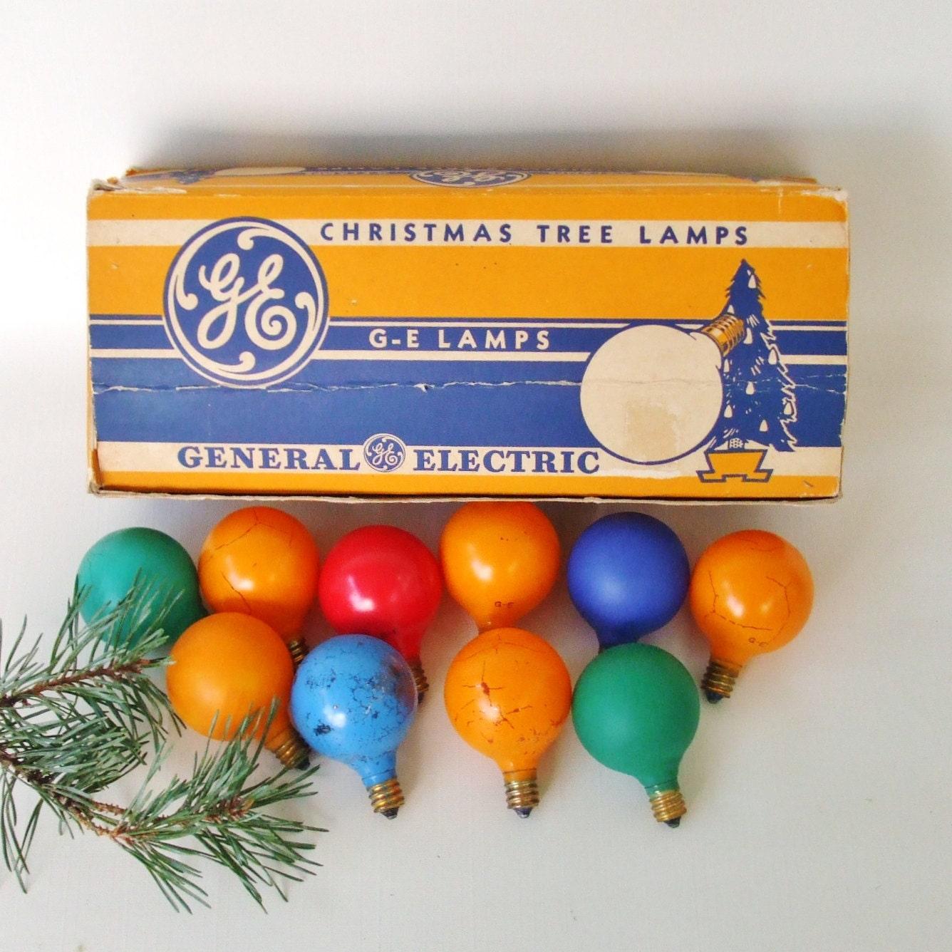 GE Christmas Light Bulbs Vintage General Electric G-14