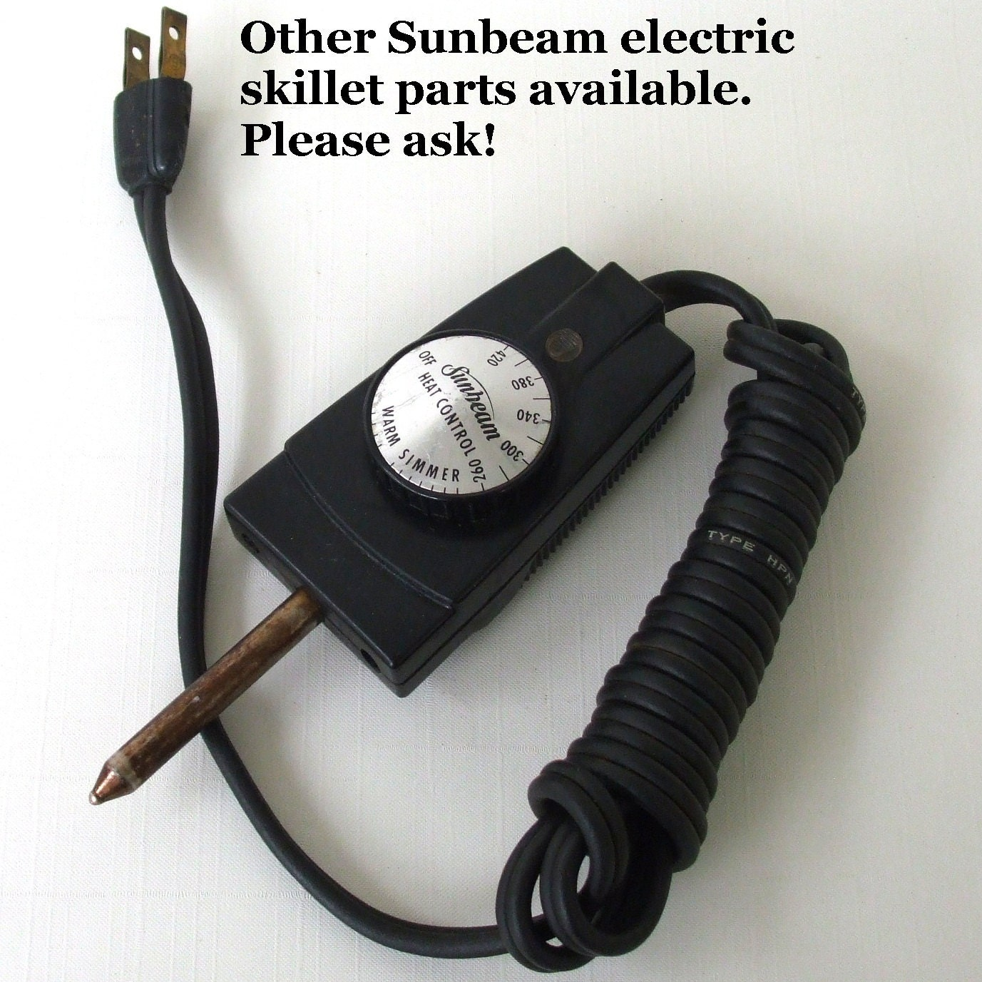 Sunbeam Electric Frying Pan Heat Control Replacement Part Rc