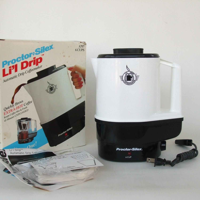 Old Drip Coffee Maker : Proctor Silex Lil Drip Coffee Maker vintage unused coffeemaker
