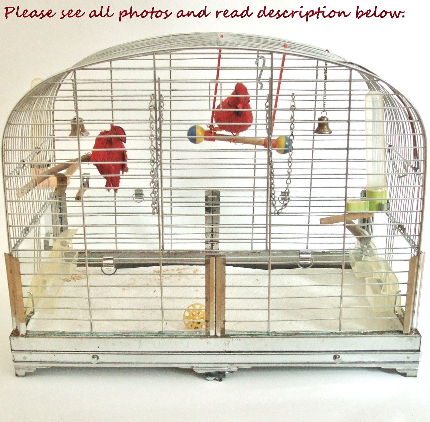 Vintage Wire Bird Cage By Hendryx