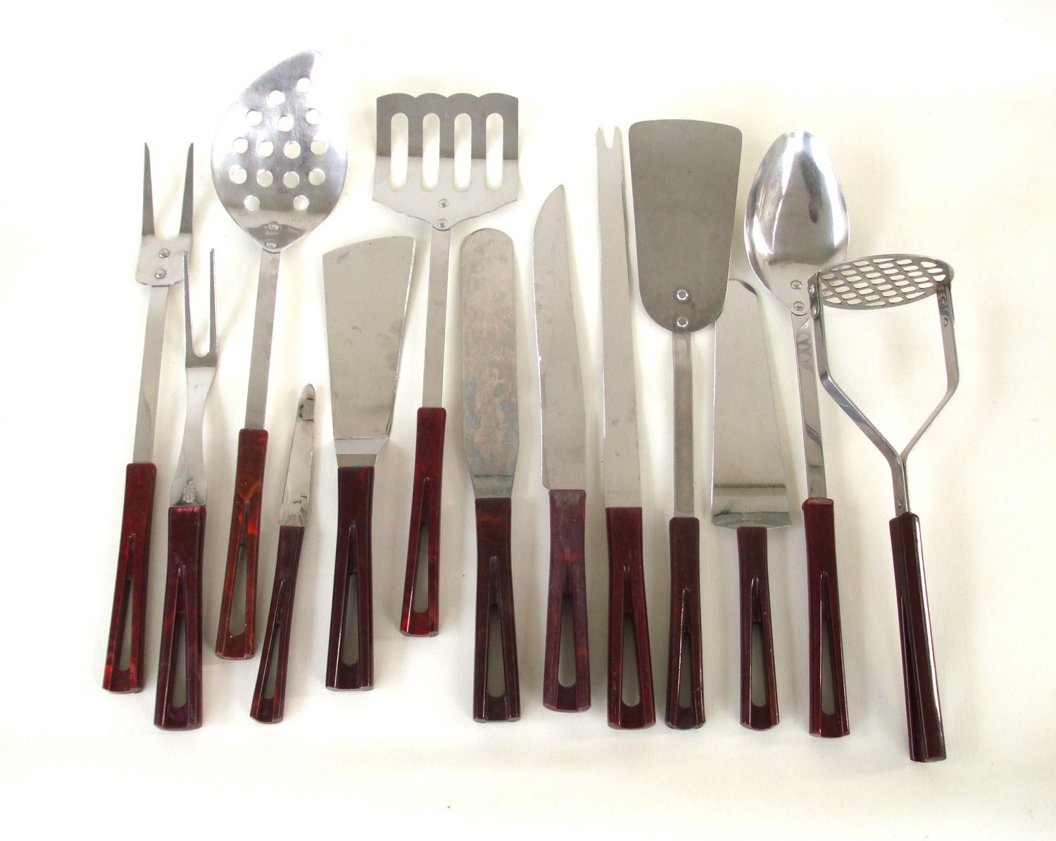 mid century modern kitchen utensil set stanhome