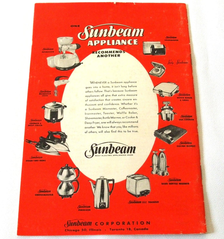 Vintage Sunbeam Electric Fry Pan Skillet Instruction Manual