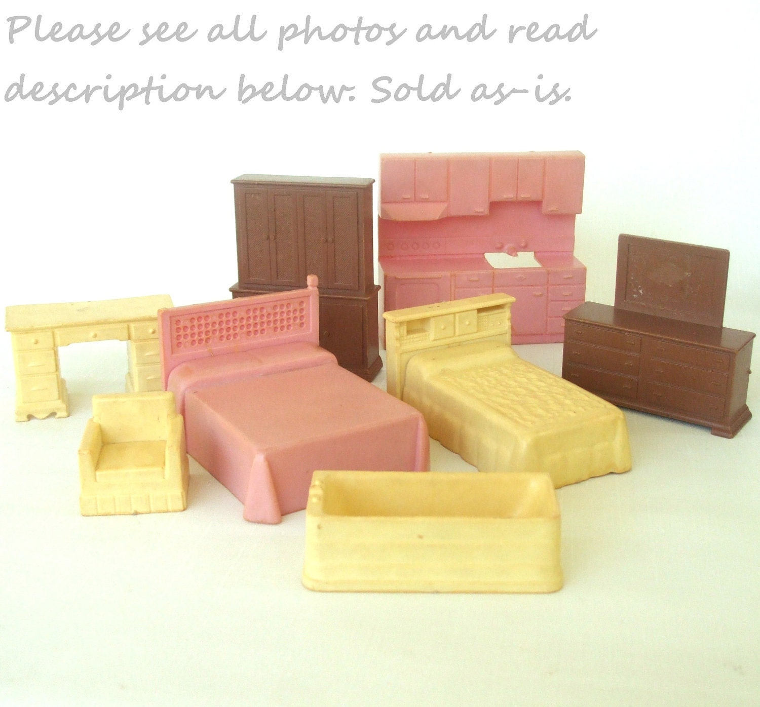 Plastic Dollhouse Furniture Vintage Doll House Miniatures