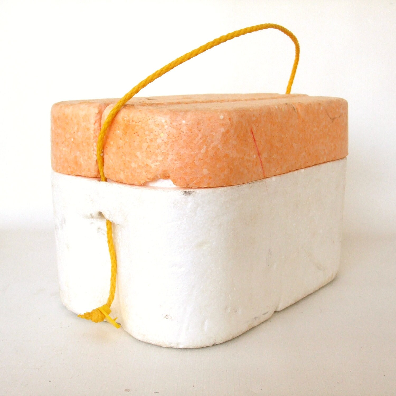Styrofoam Beer Can Cooler ~ Vintage styrofoam cooler six pack soda beer by