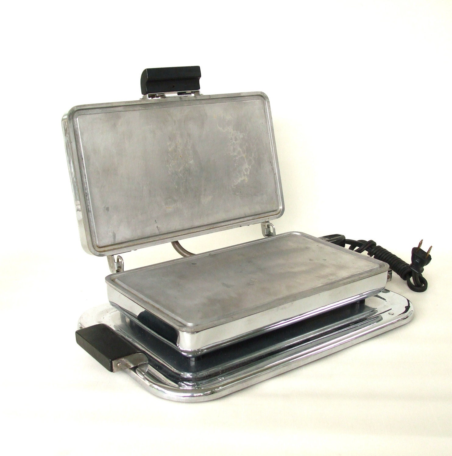 Chrome Sandwich Grill Electric Griddle Small By