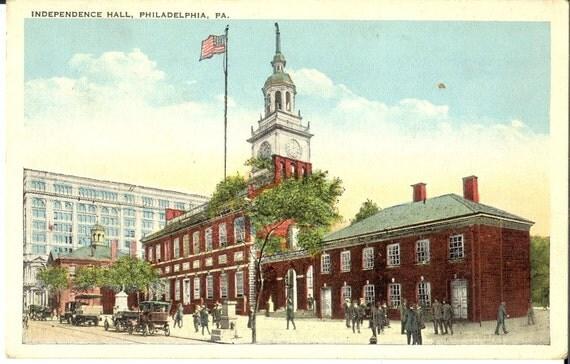 Independence Hall Philadelphia PA Vintage Postcard