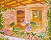 Original oil painting:   Outdoor living afternoon