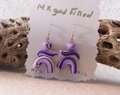 Purple Dancers Polymer Clay Earrings