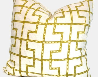 Bleecker Absinthe, Decorative Pillow cover Celerie Kemble Schumacher