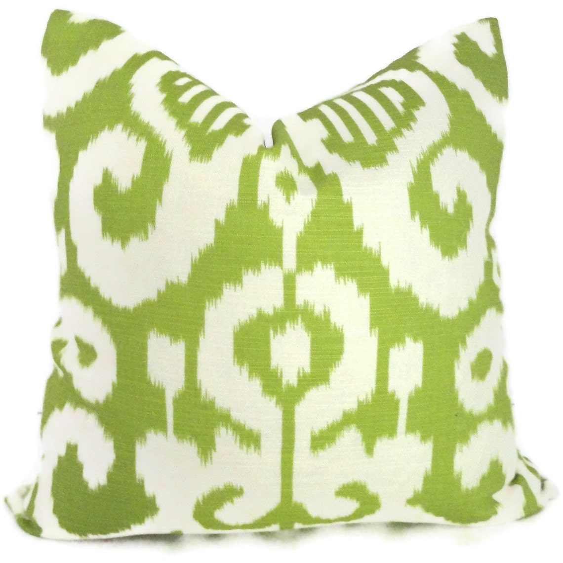 Decorative Pillows With Green : ON SALE. Duralee Spring Green Ikat Decorative Pillow Cover