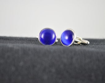 Dads and Grads Cat-Eye Cuff Links in Blue, Purple or Brown