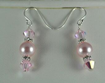 Clearance Price - Swarovski Pink  Earrings