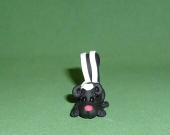 Polymer clay Skunk