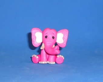 Polymer Clay Pink Elephant