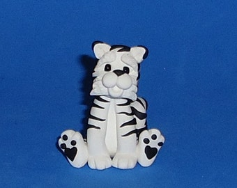 Polymer Clay White Tiger