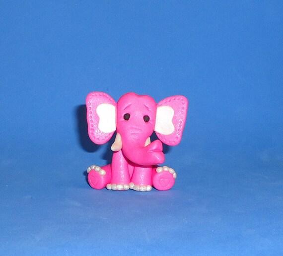 Polymer Clay Pink Elephant