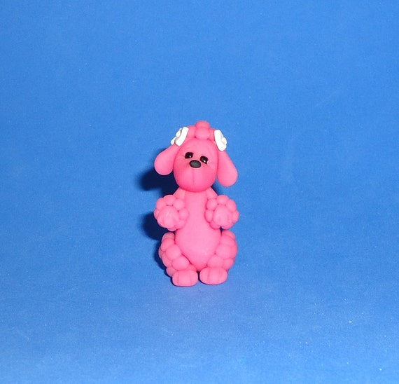 Polymer Clay Pink Poodle