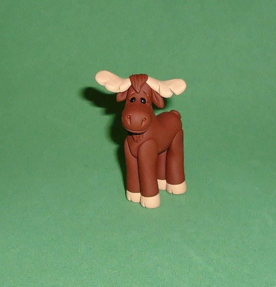 Polymer Clay Standing Moose