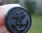 Vintage Nautical Waterbury Anchor Uniform Military Black Button Lot (12)