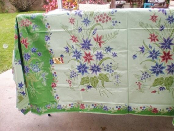Batik Fabric Green Flower Terengganu Malaysia Cotton Yardage