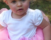 Baby Snap Designs Pink Ribbon Edged Tutu with Pink Daisy