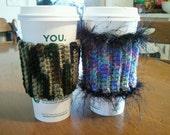 Camo and Multi-Colored Coffee Cozy