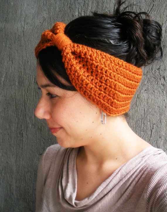 PDF PATTERN Crochet Earwarmer Headband Big Hair Bow