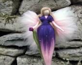 Violetta,  Needle Felted Wool fairy, Nature fairy, Waldorf inspired fairy doll