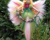 JOLINA,  Needle Felted Wool fairy, Nature fairy, Waldorf inspired fairy doll