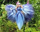 Birthday fairy, school-start PIA Waldorf doll, Wool fairy ooak