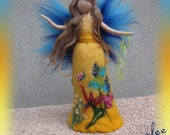 Margarete Summer fairy, Waldorf inspired fairy doll, wet and needle felted