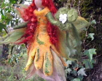 DEIRDR - irish nature fairy  Needle and Wet Felted Wool fairy, Nature fairy, Waldorf inspired fairy doll