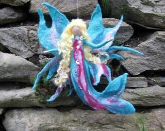 AQUIMA, mermaid, Waldorf doll, Wool fairy ooak