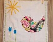 A Birdie Dish Towel