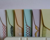 Sewn Stationery- Set of 6 Note Cards with Envelopes