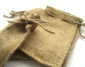 Mini Burlap Favor Bags with Drawstring Closure SET of 28 gift bags goodie bags party favor bag burlap bag