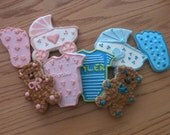 Hand decorated sugar cookies- Baby Assortment